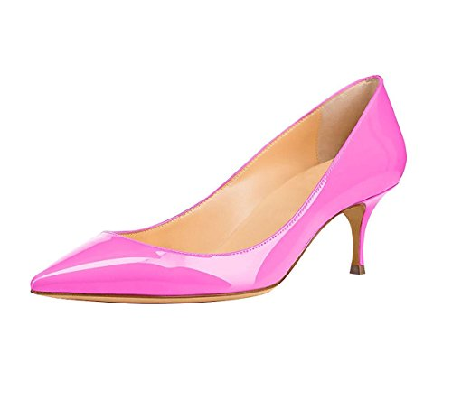 Soireelady - Chaussures Femme - Kitty Heel - 6.5cm - Chaussures À Talons Roses
