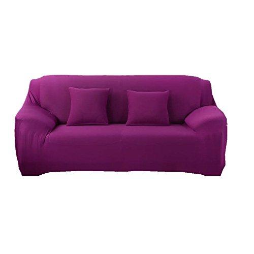 fanjow Farbe Stretch Arm Elastic Sessel Bettüberwurf Polyester Spandex Stoff, Stretch Schonbezug für Stuhl, Liebesschaukel Sofa ohne Kissen, violett, 3-seat Sofa (Arm-stuhl-seat-kissen)