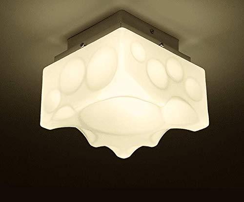 Gorkuor Lampadario Moderno Design Minimalista di personalità Creativa, Pan di Spagna, Camera per Bambini in Vetro, Balcone, Lampada a soffitto a 3 Colori by (Colore : A)