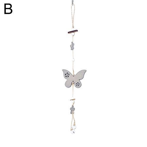 Achidistviq-pasquale coniglio, farfalla e uccellino in legno da appendere butterfly