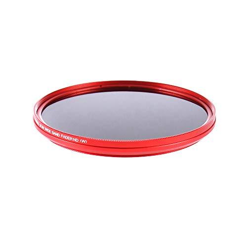 Fotga 77mm Ultra Slim Fader ND-Objektiv-Filter Einstellbare Neutraldichtefilter Variable ND2 zu ND400 Neutral Density Filter Graufilter - Rot