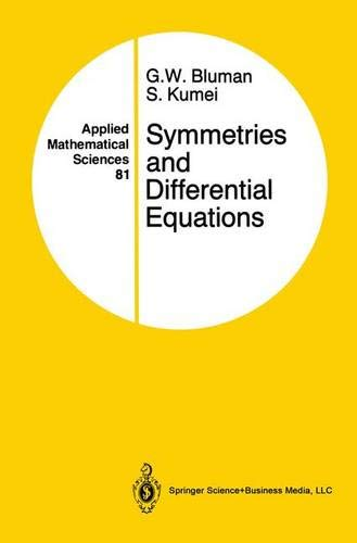 Symmetries and Differential Equations (Applied Mathematical Sciences, Band 154) -