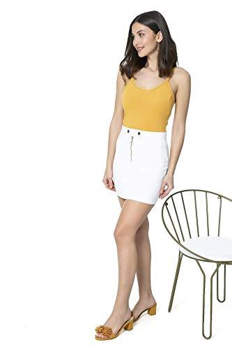 Zip Detail White Mini Skirt Zip Detail Mini