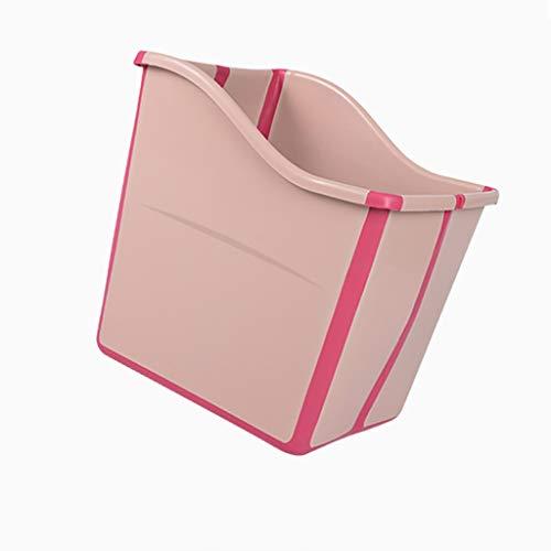 XUEPING Kinderplastik, Erhöhte Dicke Badewanne, Großes Raumbad Umweltfreundlich Und Geschmacklos Einfach Zu Tragen, Tragbarer Gürtel L55 * K47 * H49 (Farbe : Pink)