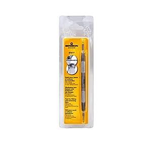 Bergeon 6767-F&6767-S Uhrenfedersteg-Werkzeug – Langer Edelstahlgriff mit austauschbarer Schraube