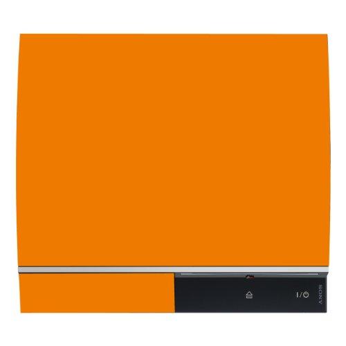 Disagu Design Skin für Sony PS3 liegend + Controller - Motiv Orange (Ps3 Skins-orange Controller)