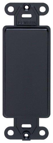 Leviton Decora Kunststoff Adapter Teller blanko–ohne Loch with-ears und zwei Befestigungsschrauben (Blank Wall Decora Plate)