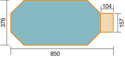 "weka Massivholzpool 593 B Gr.1, ""Alles dabei"", inkl. Technik Sandfilteranlage Medium und Technikraum"