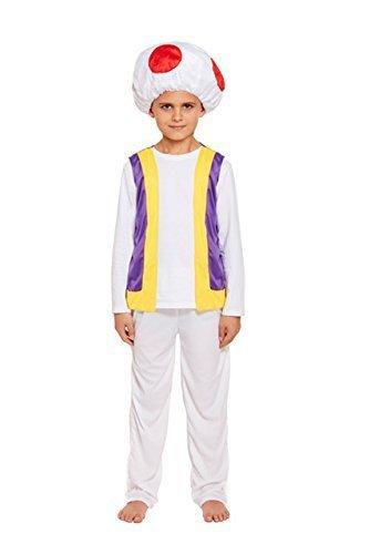 kostüm kinder pilz groß 10-12 (Mario Kostüm Toad)