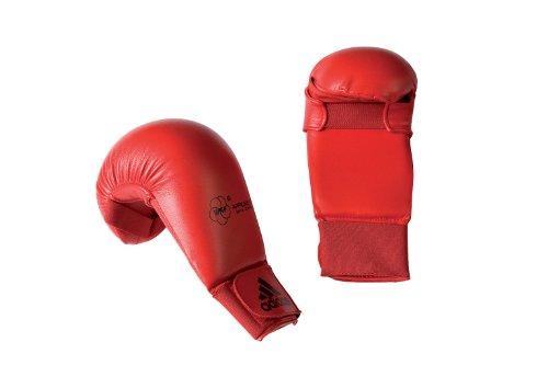 Karate Kumite Faustschützer / Handschutz / Faustschutz Adidas WKF rot Gr. S
