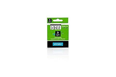 Dymo Labelpoint 250 - Original Dymo 40913 / S0720680 D1 - Cassette Ruban Etiquette 9mm Noir / Blanc -