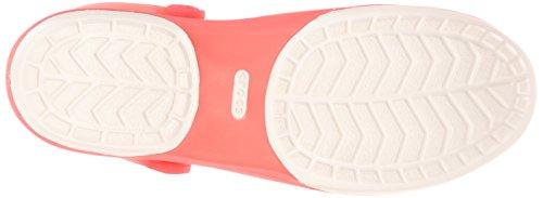 Crocs Carlie Cutout W, Sandales - Femme Rouge (Coral/Oyster)