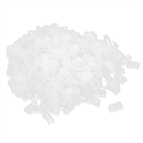 500PCS 10,4mm Kunststoff Draht Kabel Schlauch Befestigung Befestigung R Klemme Clip (Kunststoff-draht-schlauch)