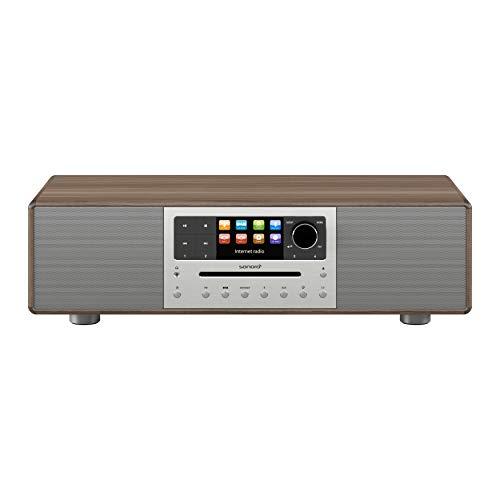 sonoro MEISTERSTÜCK Kompaktanlage Streaming+ (FM/DAB+, CD, AUX, Bluetooth, Spotify, Amazon Music, Napster, Qobuz, Tidal, Deezer) Walnuss