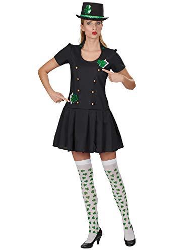 Glücksbringer Kostüm - Andrea Glücksbringer Kleid Schornsteinfegerin Kostüm Damen Kleeblatt Berufe Karneval (36/38)