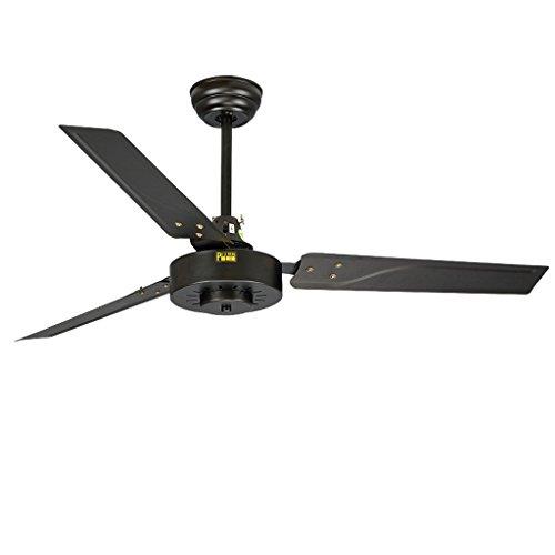 DiaoShan - 42 Zoll schwarz Eisen Blatt Deckenventilator moderne einfache Wind hängende Decke europäischen Restaurant Wohnzimmer Fan -