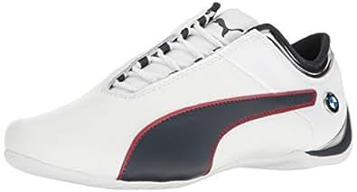 Puma Men's BMW MS Future Cat MU Walking Shoe, White-Team Blue-High Risk Red, 4 M US
