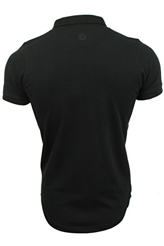 Herren Polo T-Shirt von Smith & Jones kurzärmlig Schwarz
