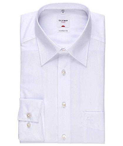 Olymp Hemd Luxor Comfort Fit - weiß, Kragenweite:45 (45)