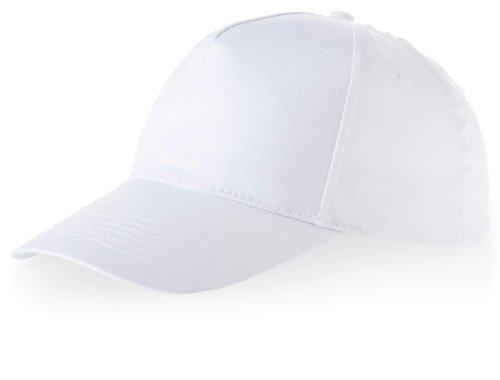 Kinder Baseball Cap 'Euro' = 100% Baumwolle im 13 Farben (White)
