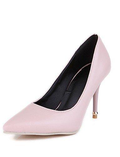 WSS 2016 Chaussures Femme-Mariage / Bureau & Travail / Habillé-Noir / Rose / Beige-Talon Aiguille-Talons-Talons-Similicuir beige-us9 / eu40 / uk7 / cn41