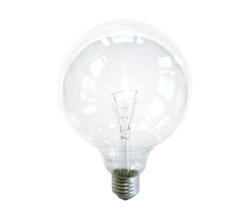 Globe Glühbirne 60W E27 KLAR G120 125mm Globelampe 60 Watt Glühlampe Glühbirnen Glühlampen (Globe-skala)