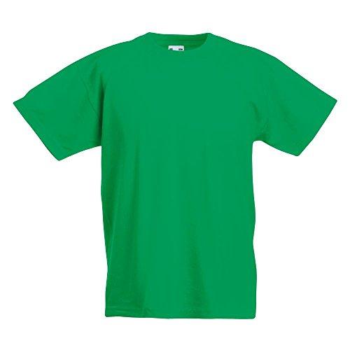 Fruit of the Loom - Kinder T-Shirt \'Kids Original T\' / Kelly Green, 164