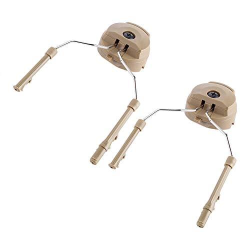 Dioche Helmschiene Adapter, Tactical Arc Rail Suspension Headset Unterstützung für Peltor Comtac (2pc)(Tan) -