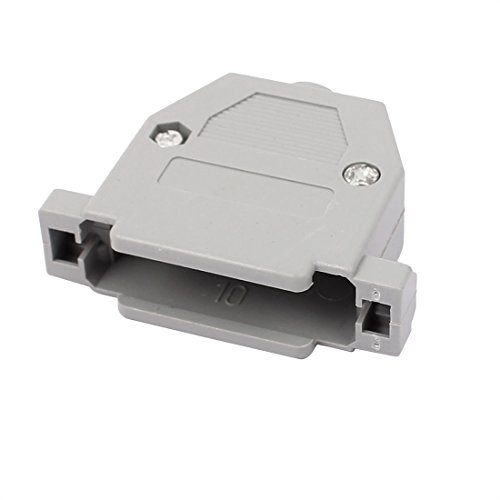 sourcingmap Kunststoff DB25 Serieller Anschluss D-Sub Steckverbinder Kit Abdeckung - Db25-stecker