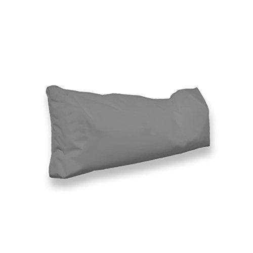 berlinpillow.de 4260406163464 Original Bean Bag In und Outdoor PalettenRückenkissen Pallets Bag, 100 x 30 x 10 cm, grau