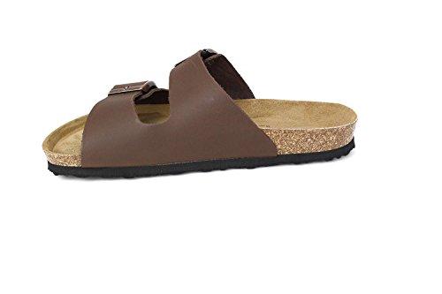 JOE N JOYCE London Nappa Pelle sottopiede morbido sandali Normale Brown