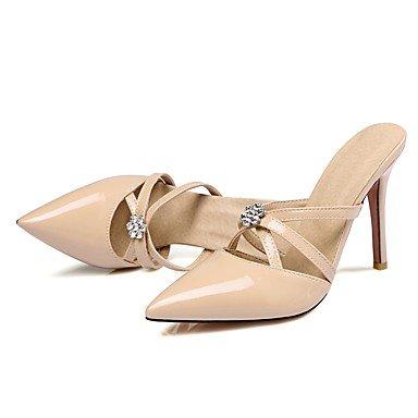 LvYuan Da donna-Sandali-Formale-Altro-A stiletto-Vernice-Nero Giallo Rosa Bianco Beige Black
