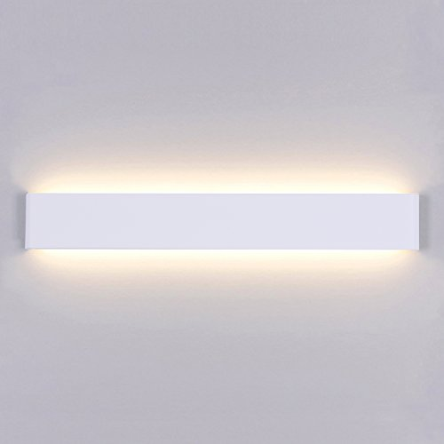 Liqoo Aplique Pared LED Interior Diseño Moderno Cómodo 20W Equivalente a 75W Blanco Cálido 3000k AC85-265V Decoración para Salon Pasillo Escalera Dormitorio Baño No Regulable Longitud 60cm