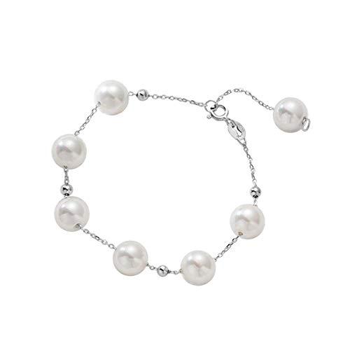 Kostüm Weibliche Promi - Perle Silber Perlen Armband weiblichen 925 Sterling Silber Perlen Dame Damen Promi Armband Armband Temperament einfache Flut