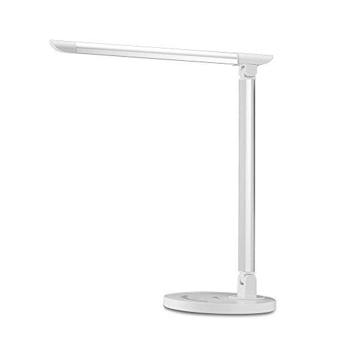 TaoTronics Lampe de Bureau LED 5 Modes de Couleur et 7 Niveaux de Luminosité Ajustable Contrôle Tactile Protection des Yeux Lampe de Table avec 1 Port Chargeur USB pour Charger Smartphone