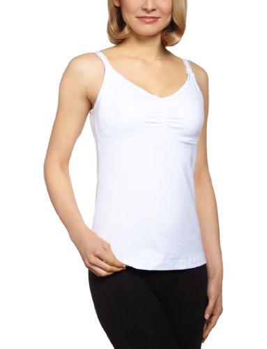 Medela Damen Bügelloser Schwangerschafts-BH Bravado Essential Nursing Tank Top, Einfarbig, Gr. 80 B (Herstellergröße: 80 BC), Weiß (White) (Double Still-bh Plus)