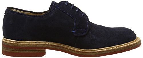 BARKER Herren Kingswood Derbys Blue (Dark Navy Suede)