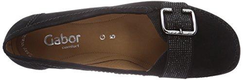 Gabor Shoes 22.523.47_Gabor Damen Mokassin Schwarz (schwarz (schwarz))