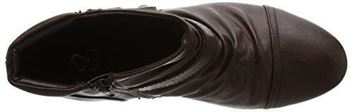 Sconosciuto - Ruched Ankle, Stivali Chelsea Donna Brown (Brown)