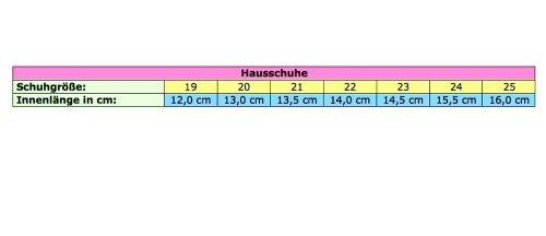 Mädchen Hausschuhe 13-139, verschiedene Farben, Gr 19 bis 25 (12 bis 16 cm) Karriert/Rosa