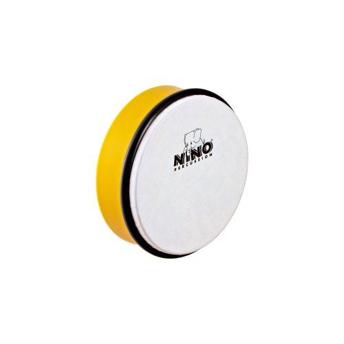 NINO PERCUSSION NINO4Y   PANDERO DE MANO (ABS  15 2 CM/6 PULGADAS)  COLOR AMARILLO