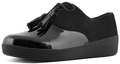 FitFlop Classic Tassel Superoxford Shoes All Black