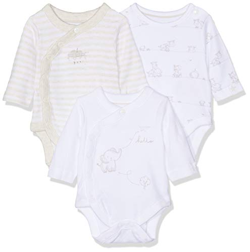 Mothercare My First Elephant Wrap Opening Bodysuits - 3 Pack, Body Mixte bébé, Multicolore (LIGHTS MULTI 213), Newborn (Manufacturer Size:50cm)