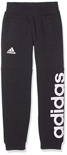 adidas Kinder Linear Sweat Hose, Carbon/White, 104