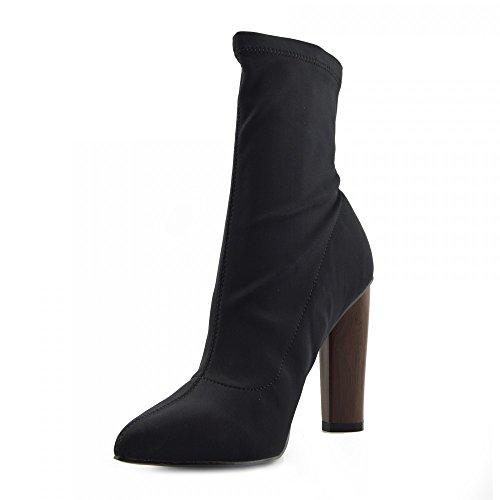 Kick Footwear Chelsea Boots, Stivali donna Black Lycra