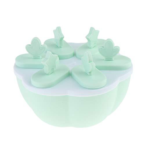 SM SunniMix Eisformen EIS am Stiel + 6 Stücke Eislutscher Popsicle Molds Maker, BPA Frei - Hellgrün