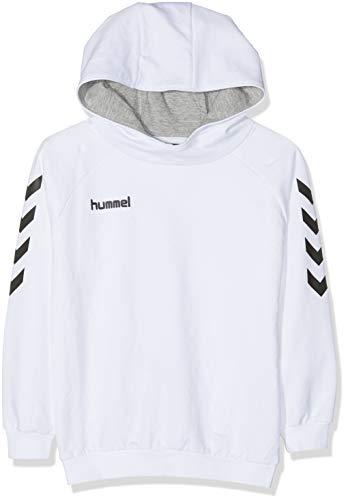hummel Kinder HMLGO Kids Cotton Hoodie Kapuzenpullover, Weiß, 164