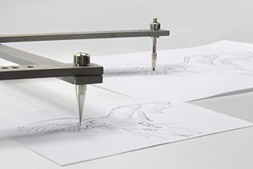 Graphoplex Pantograf, Holz, 35cm, Grau