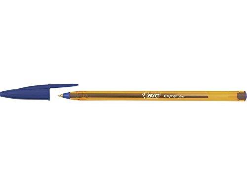 Bic Cristal Fine – Bolígrafo de punta fina, color azul