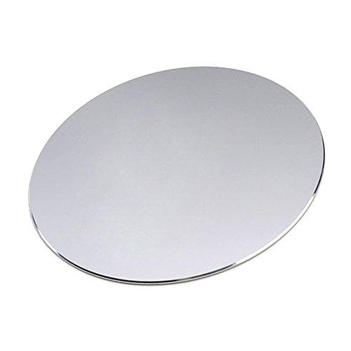 Eizur Alluminio Tappetino per Mouse Gaming Circolare Mouse Pad Impermeabile con Base in Gomma Antiscivolo e frosted superficie per controllo rapido e preciso per Computer Mousepad Diametro 220*220mm--Argento Titanio
